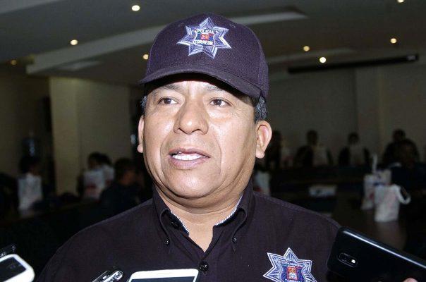 Adelaido Flores Díaz, director de Seguridad Pública Municipal.