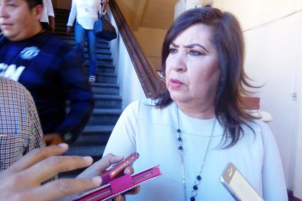 La alcaldesa María Luisa González Achem.