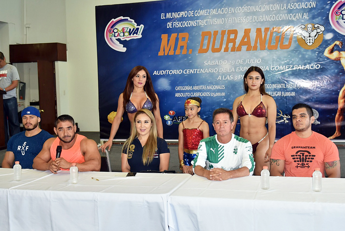 Presentan los pormenores del Mr. Durango que se realizará el sábado 29 de julio en el Auditorio Centenario de Gómez Palacio.
