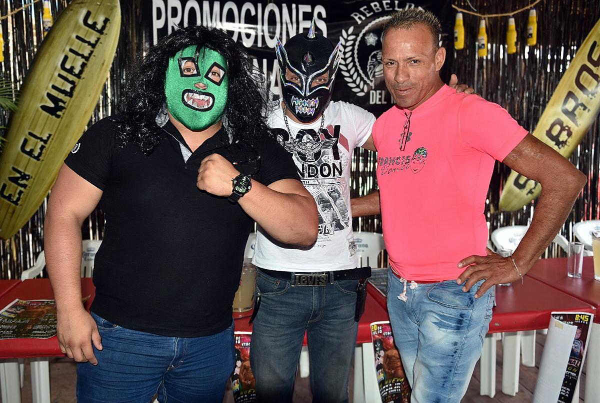 Hijo del Espectro Junior, Ángel Infernal y Sexy Francis, dieron a conocer la espectacular función de lucha libre que encabeza Garza Junior en la Arena Gran Markus este próximo jueves.