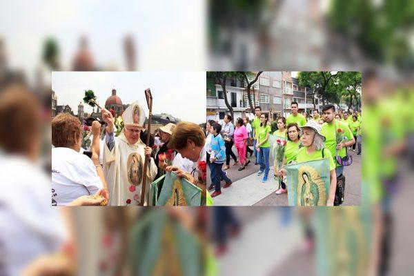 Encabeza obispo peregrinación a la Basílica de Guadalupe