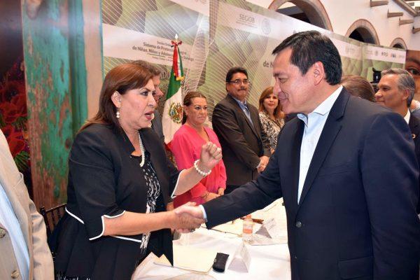 María Luisa plantea proyectos de seguridad y desarrollo a Osorio Chong
