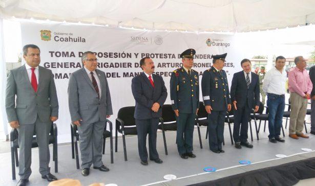 Asume el general Coronel Flores titularidad del Mando Especial de La Laguna