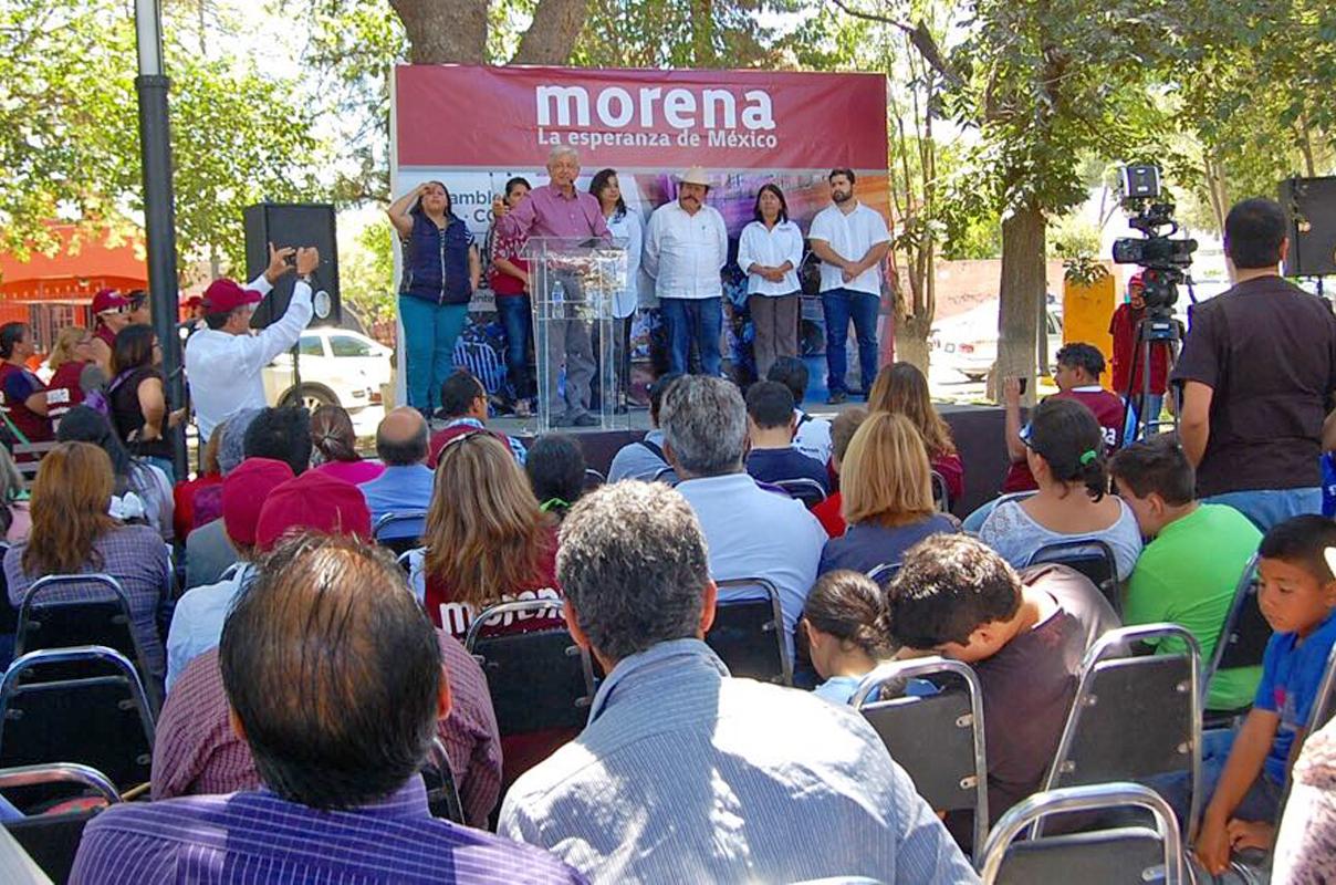 Catean casa de campaña de Guillermo Anaya