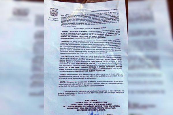 El cateo a las casas del PAN fue ordenado por la autoridad judicial