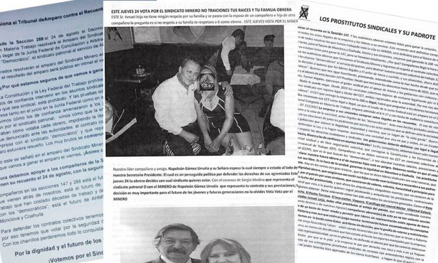 "En lucha sindical ""balconean"" a dirigente de mineros de Monclova"