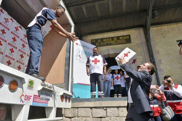 Durango aporta 64 toneladas de ayuda humanitaria para los damnificados de los sismos