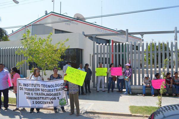 Demandan a la PGR terminar con la toma del Tecnológico de Torreón