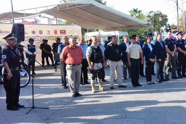 Exhiben fuerza de cuerpos de seguridad en Monclova