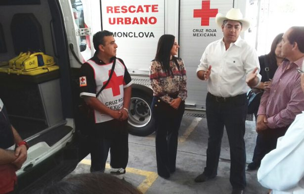 Presume Cruz Roja Monclova sus instalaciones a alcalde electo