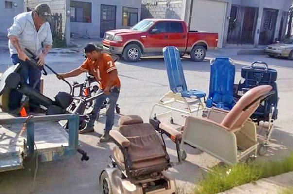 Reciben en Castaños 500 equipos usados para discapacitados