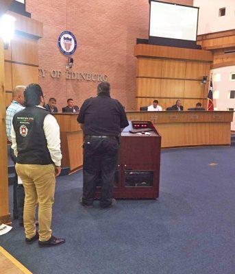 El gobierno de la ciudad de Edinburg, Texas, aprobó la donación de equipo a bomberos de Monclova.