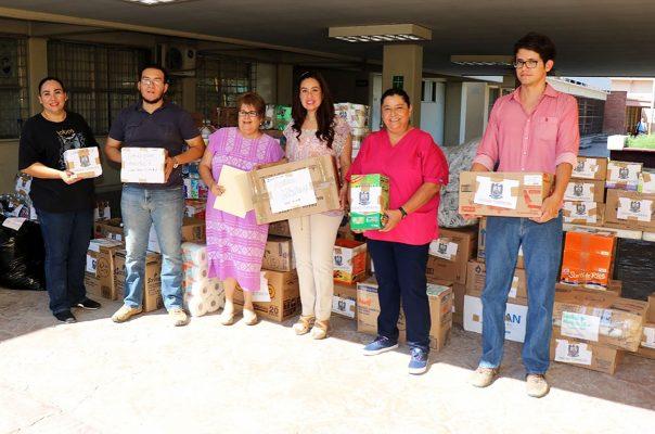 Entrega UA de C Unidad Torreón primer lote de víveres para damnificados