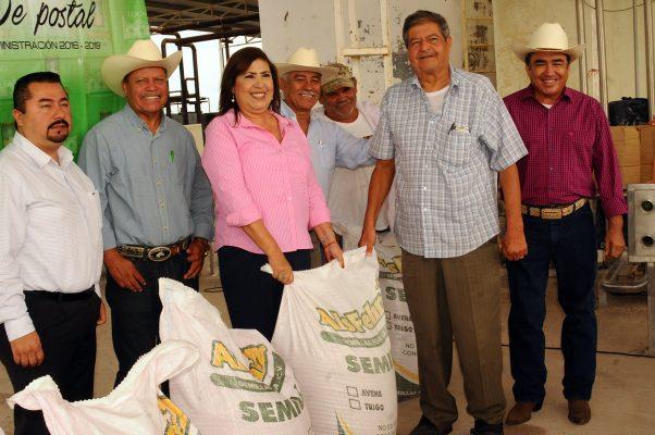 María Luisa entregó 30 toneladas de semilla de avena