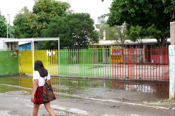 Cuatro escuelas de nivel básico no abrieron sus puertas a causa de las fuertes lluvias del martes