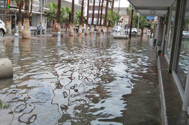 Cárcamo del sistema de drenaje del Paseo Morelos, inhabilitado