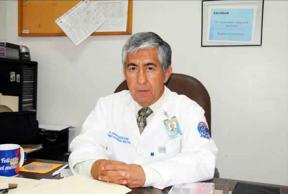 Doctor Cipriano Rodríguez Martínez, Subdirector de Enseñanza e Investigación del Hospital Infantil y miembro del comité organizador del evento.
