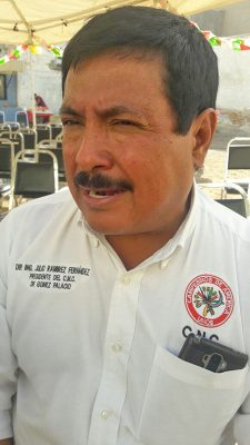 Julio Ramírez, dirigente de la CNC en Gómez Palacio.