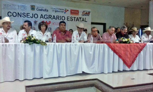 Presidium del Consejo Agrario en Matamoros.