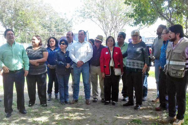 Representantes de los municipios de la región centro, en el arranque de acopio de llantas usadas.