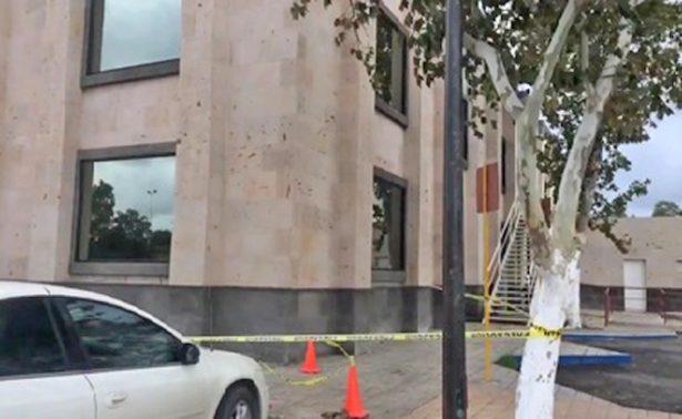Lluvias colapsan parte de la Presidencia Municipal