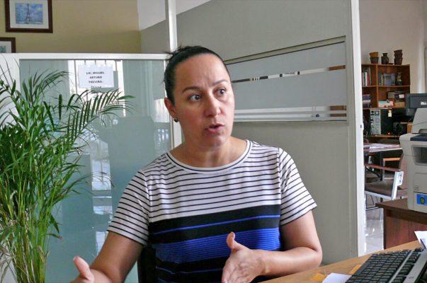 Sara de los Santos Llamas, segunda visitadora de la Comisión Estatal de Derechos Humanos.