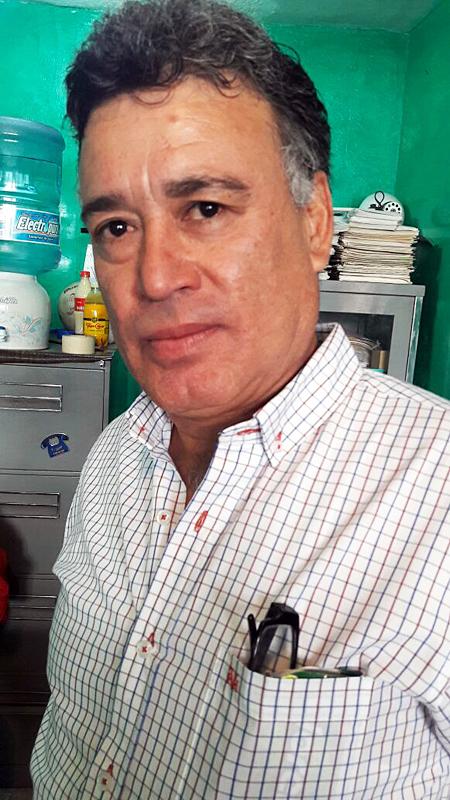Jesús Díaz López, dirigente de los ferrocarrileros de la Sección 9 en Gómez Palacio.