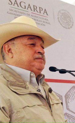 Jorge Alberto Flores Berrueto, delegado de la Secretaría de Agricultura.