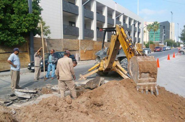 En el centro de la ciudad, cierran calle Galeana por obra del SIMAS