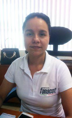 Licenciada Candy del Rocío Velázquez Monroy, delegada estatal de Fonacot.