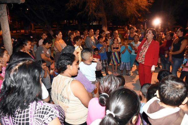 Anuncia María Luisa obras de beneficio para habitantes de La Goma