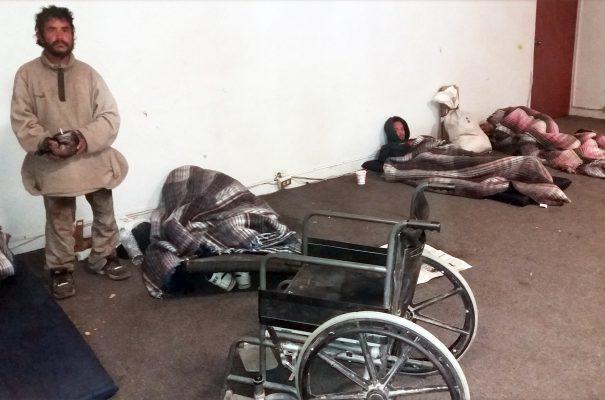 Solo cinco personas se refugiaron del frío en los albergues temporales