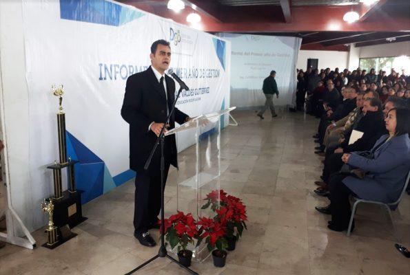 Rinde su primer informe el subsecretario de Educación región Laguna de Durango