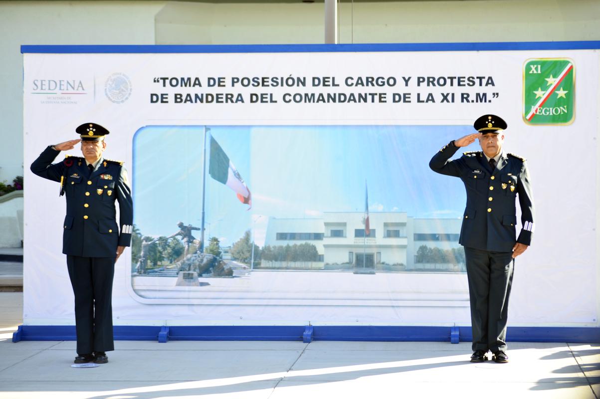 Toma protesta nuevo comandante de la Onceava Región Militar