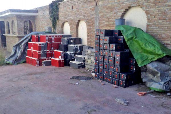 Detienen a banda dedicada al robo de baterías de Telmex y Telcel