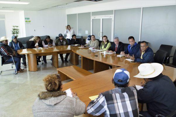 Alcalde se reúne con ejidatarios y comisariados del Cañón de Jimulco