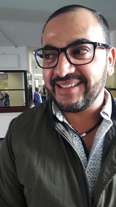 Joshua Cruz Aragón, jefe de Parques y Jardines.