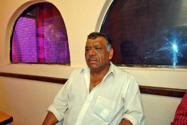 Roberto Antúnez Medina, comisario del ejido La Mina y dirigente del grupo de marmoleros.