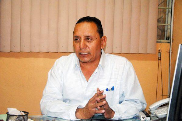Salvador Zúñiga, presidente de locatarios del mercado Juárez.