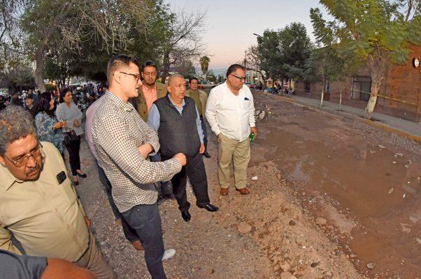 Celeridad en los trabajos de la calle Centenario, exigirá el alcalde José Lorenzo Natera.