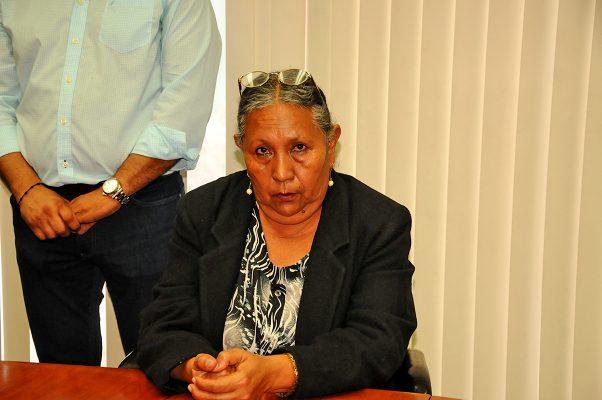 Josefina Gaytán García, otra de las manifestantes.