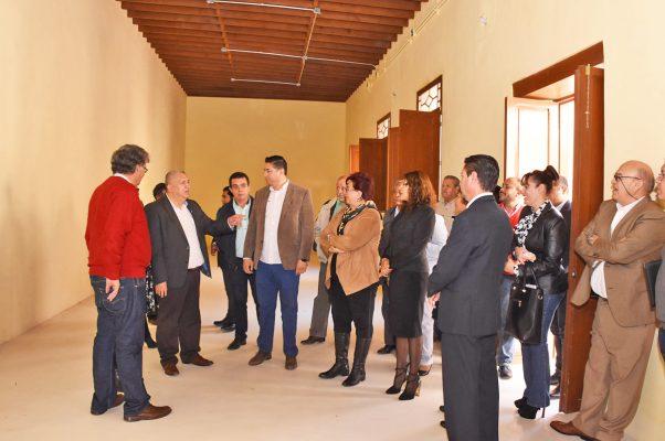 Un recorrido por Casa Faya, realizó el alcalde José Lorenzo Natera.