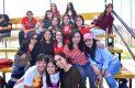 Familiares y amigas de los jugadores asistieron al partido en La Bombonera.