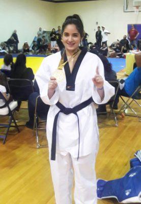 Andrea compitió además en un torneo de taekwondo en Austin, Texas, ganando oro en la modalidad de combate y plata en formas.