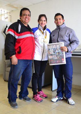 José Luis Díaz Rodríguez, padre y entrenador de Andrea y José Luis, se mostró orgulloso de lo conseguido por los atletas laguneros.