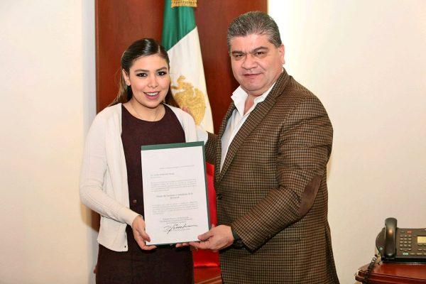 Gobernador nombra a la nueva titular del Instituto de la Juventud
