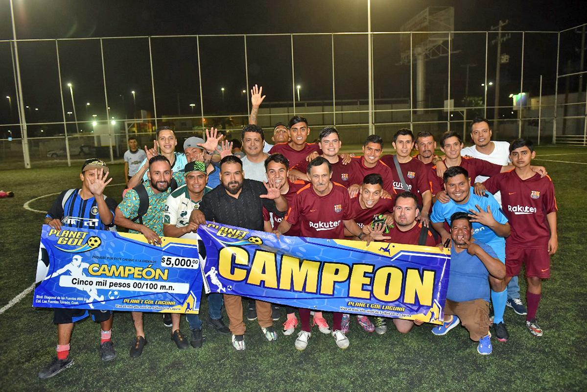Barcelona, campeón de la Liga Italiana de Planet Gol Fuentes.