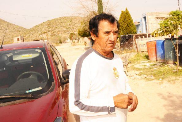 Pedro Durón, jefe de cuartel del ejido Francisco Villa.