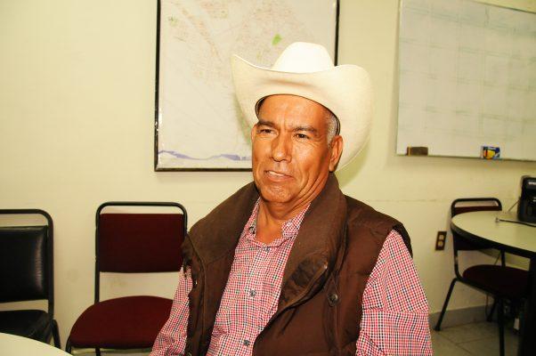 Gustavo Villegas López, dirigente de los productores de hortalizas.