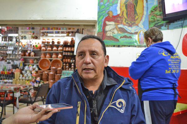 Salvador Zúñiga González, presidente de locatarios.